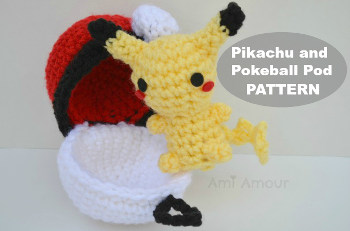 Pikachu with Pokeball Crochet Pattern